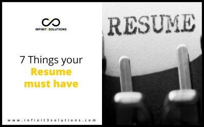 7 things your Resume must Have