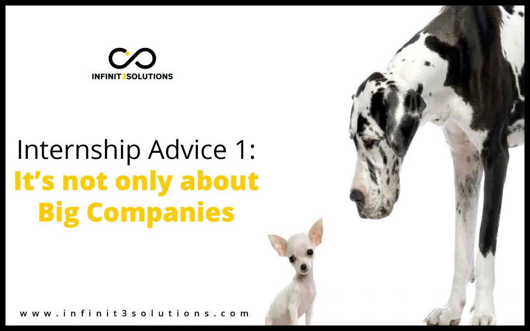 Internship Advice 1: It's Not Only About Big Companies
