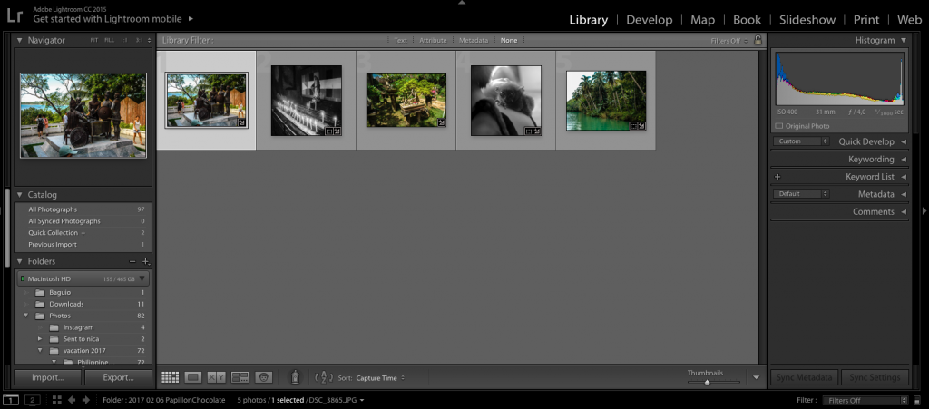 importing pictures