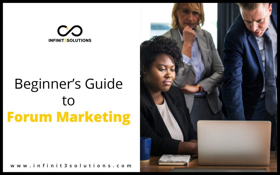 Beginner's Guide to Forum Marketing