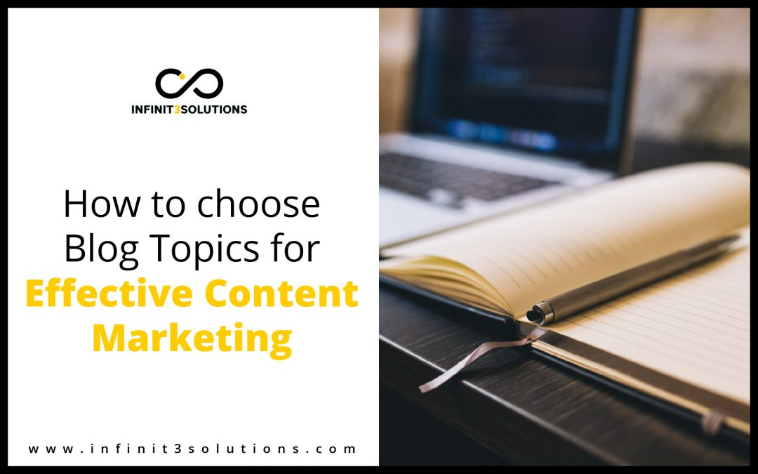 How to choose Blog topics for Content Marketing