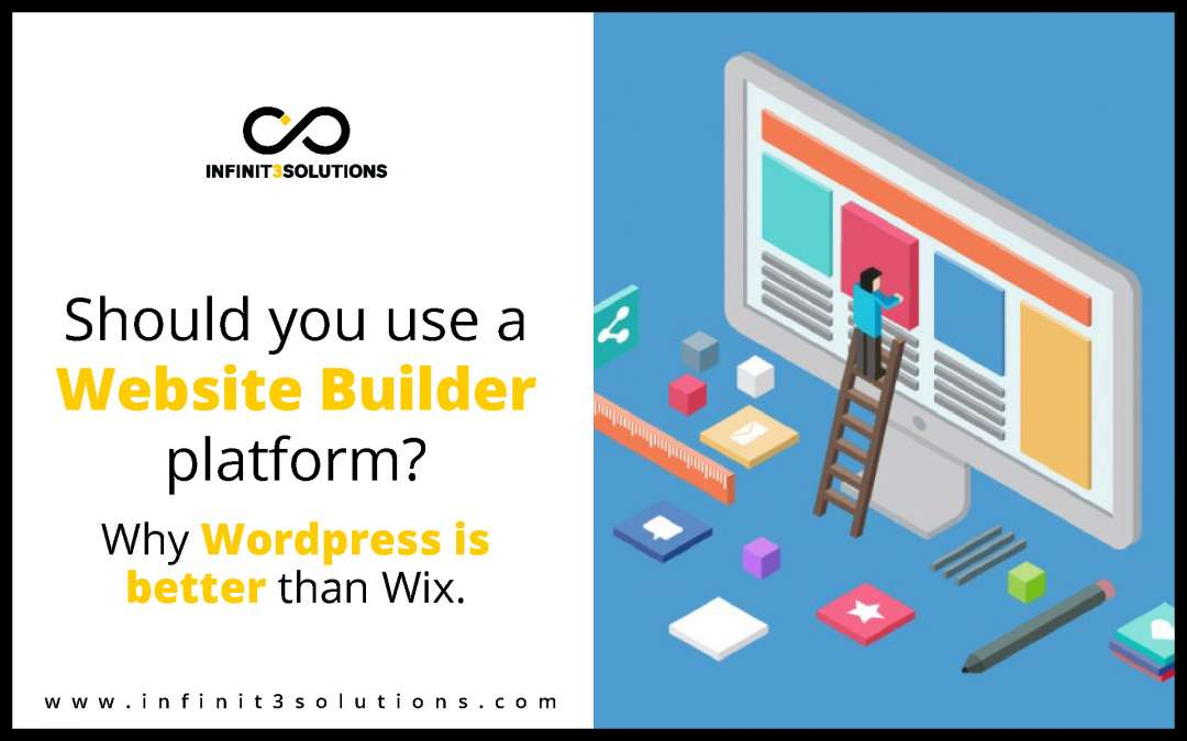 Should you use a website builder platform? Find out why WordPress is better than Wix