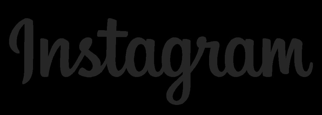 Instagram logo - Script font