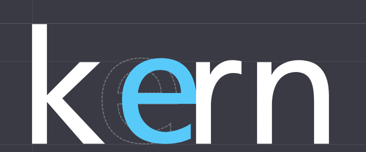 Kerning Sample