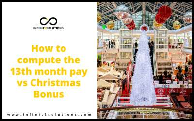 How to compute 13th month pay and Christmas Bonus