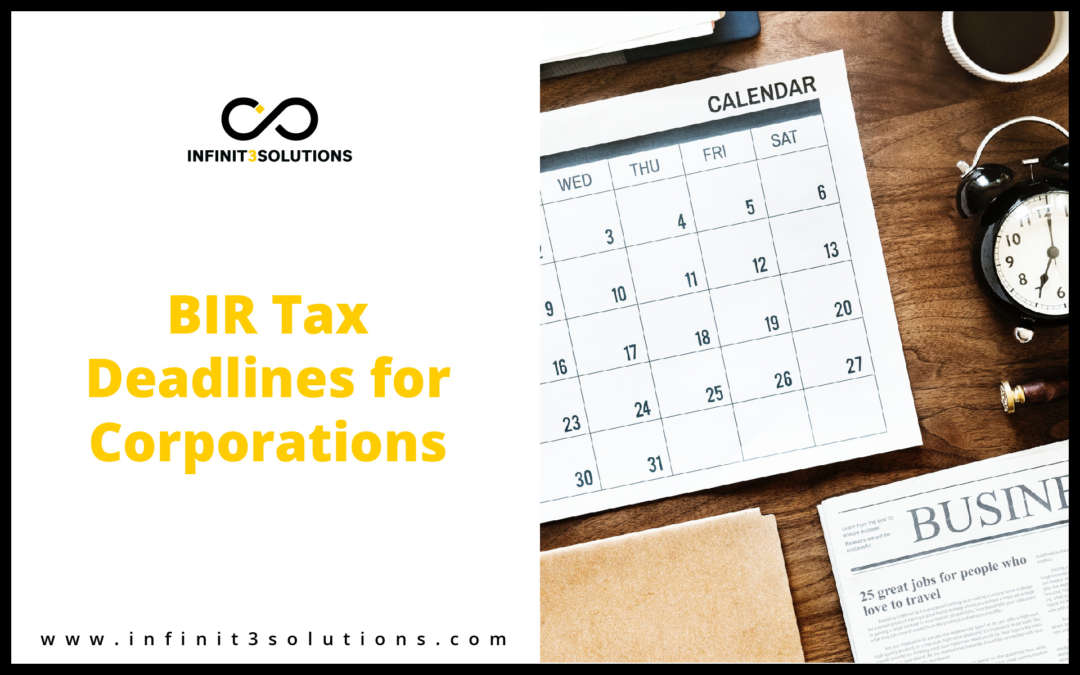 BIR Tax Deadlines for Corporations (Percentage Tax)