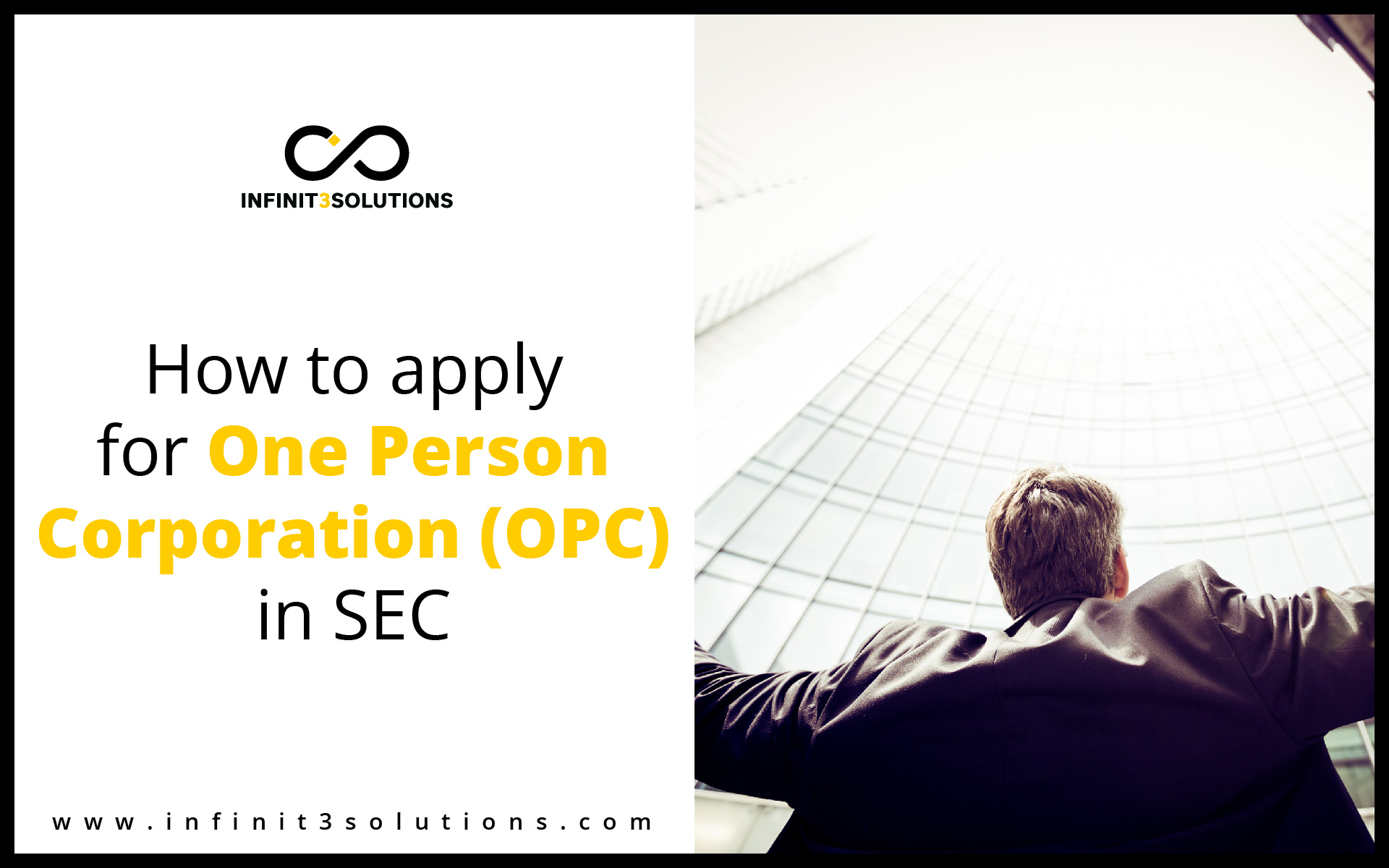 How to open one person corporation (OPC) in SEC
