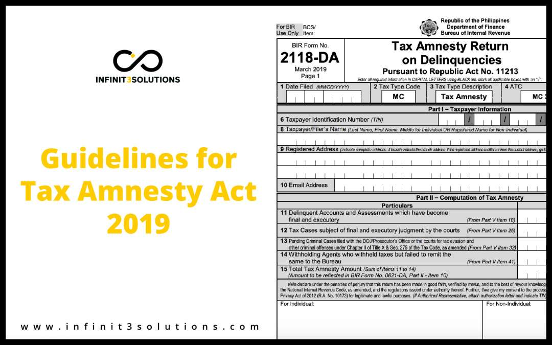 Guidelines For Tax Amnesty Act 2019