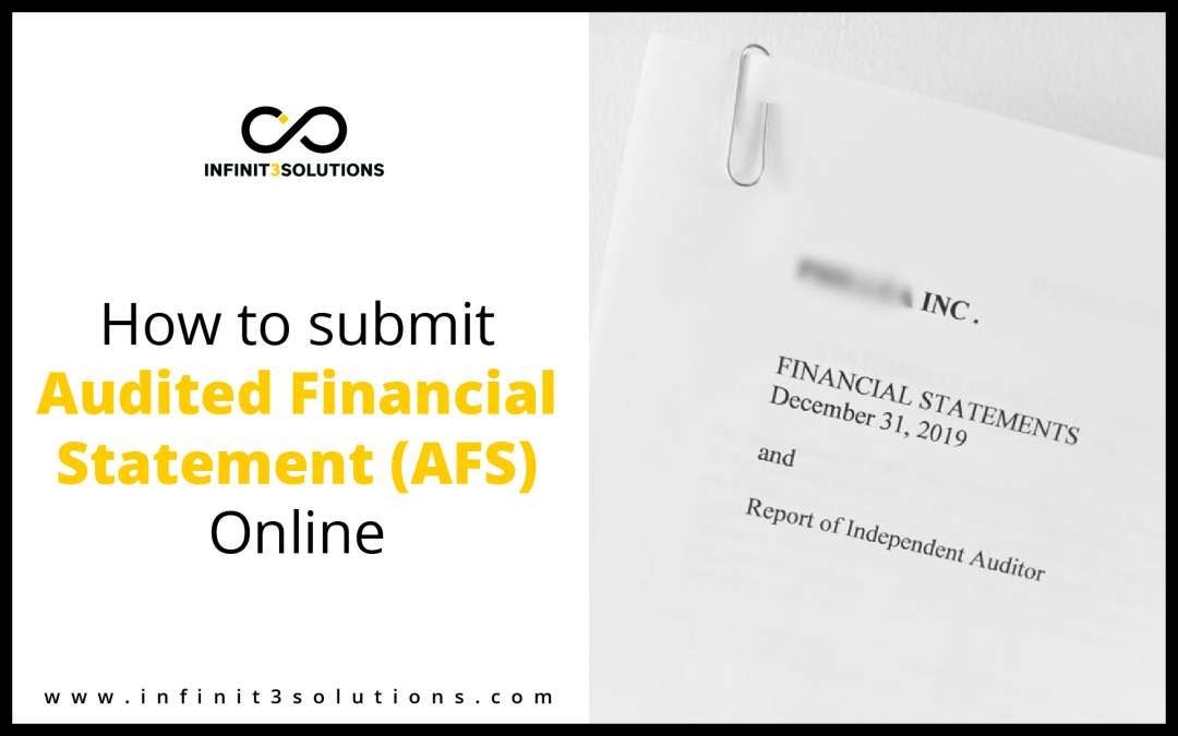 How to Submit Audited Financial Statement (AFS) online