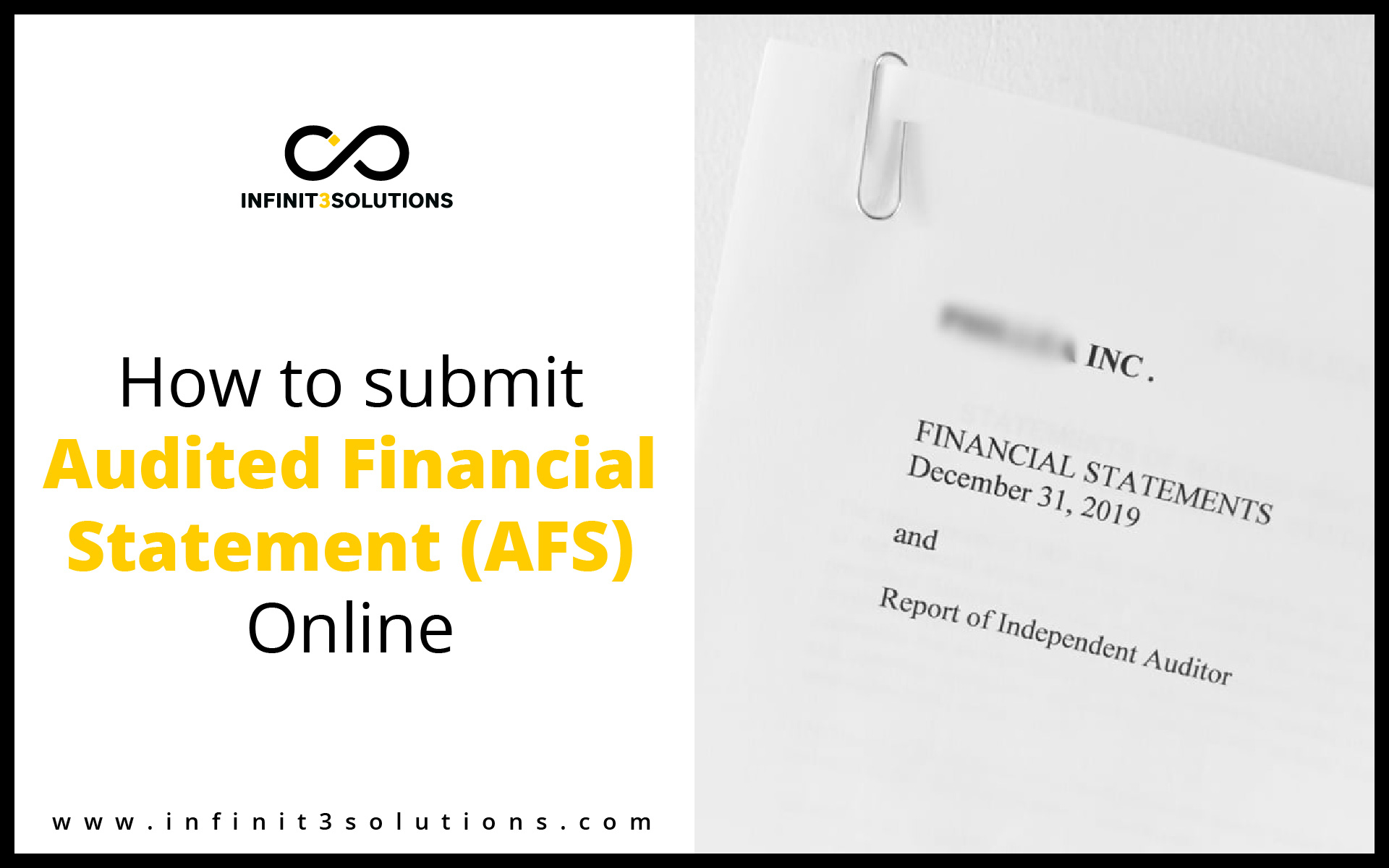 How to submit Audited Financial Statement using eAFS