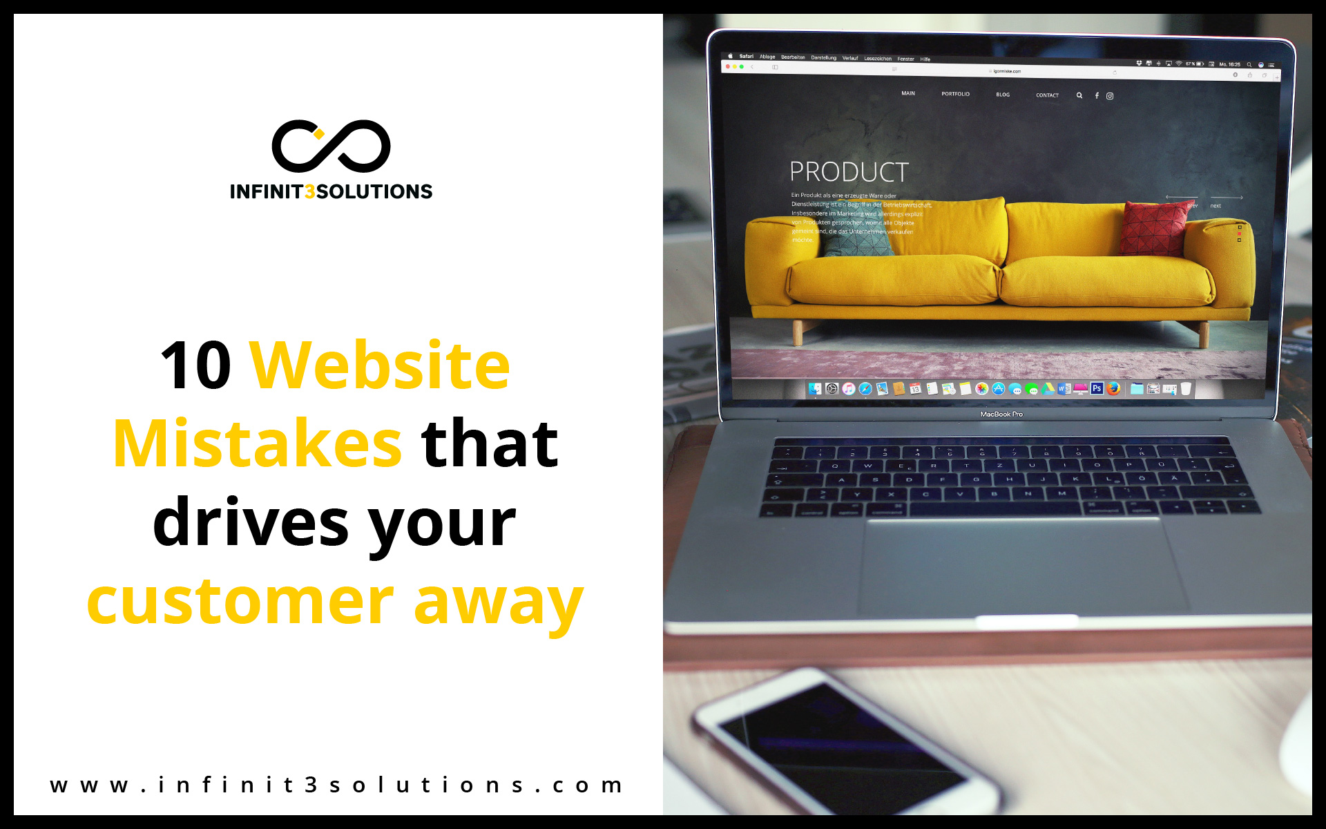 Things to Avoid when creating a website