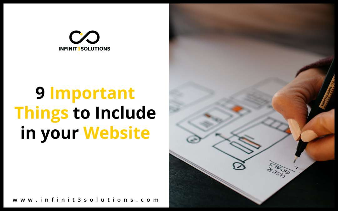 9 Important Things To Include In Your Website